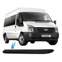 Estribo Tubular Plataforma Ford Transit Curta/longa - Preto