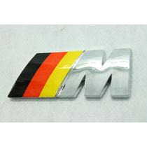 Emblema Bmw M Cromado: Serie 5, 6, 7, X1, X3, X5, X6 !
