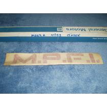 Adesivo Decalque Mpfi Monza Classic 91 92 Novo Na Caixa Gm