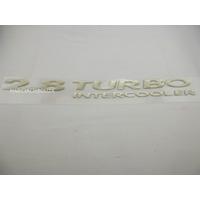 Emblema Adesivo 2.8 Turbo Intercooler S10 Blazer 2003/ Ouro