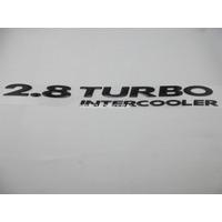 Emblema Adesivo 2.8 Turbo Intercooler S10 Blazer 2003/ Preto
