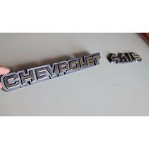 Emblema Chevrolet + 4.1/s Da Mala P/ Opala Caravan (cromado)