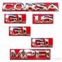 Kit Emblemas Corsa Sedan Gl 1.6 - 96 À 02 - Modelo Original