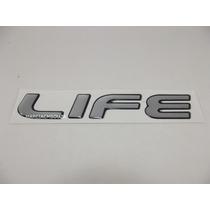 Emblema Adesivo Life Celta Corsa Prisma 2008 Em Diante Prata