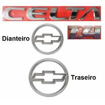 Emblemas Chevrolet Celta 1.4 - 2003 À 2006 - Modelo Original