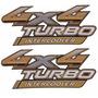 2 Par Dois Adesivos 4x4 Turbo Intercooler Hilux 2014 2015 16
