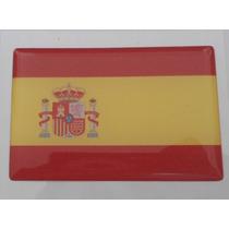Adesivo Bandeira Espanha Resinado Universal