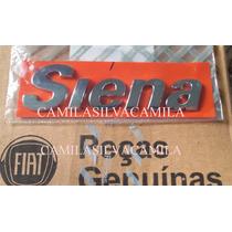 Emblema Siena Tampa Do Porta Malas Todos Novo Original Fiat