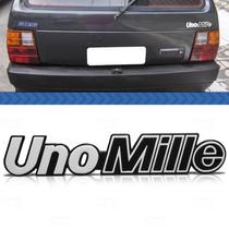 Emblema Tampa Porta Malas Fiat Uno Mille 93 92 91 Prata