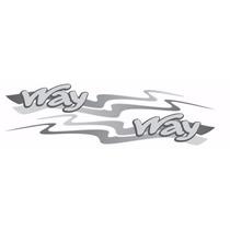 Faixas Adesivo Uno Mille Way - 2013 À 2014 - Modelo Original