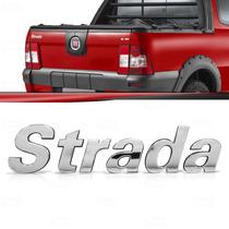 Emblema Tampa Traseira Fiat Strada 2002 Até 2012 Cromado