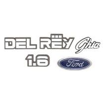 Kit De Emblemas Ford Del Rey Ghia 1.6 - Modelo Original
