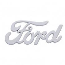 Emblema Ford Friso Letra Hot Rod Custom Capo Mala Cromado Gt