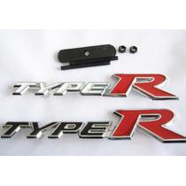 Emblema Type R Para Grade Linha Esportiva Honda!