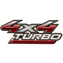Emblema Adesivo 4x4 Turbo Toyota Hilux