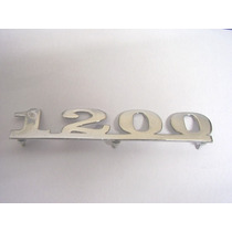 ! Emblema 1200 Para Vw Fusca Metal, Cromado, Novos!
