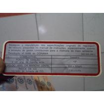 Adesivo Dados Motor Parati Quadrada 95/96 Orig Vw