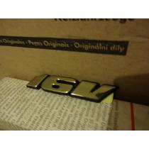 Emblema Traseiro 16v Gol/parati Gti 16v Dourado Original Vw
