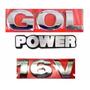 Emblema Gol G3 + Power 16v - Geração 3 - Modelo Original