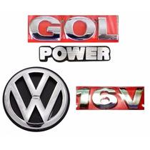 Kit Emblemas Gol G3 Power 16v - Geração 3 - Modelo Original