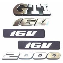Kit Emblemas Gol Bola Gti 2000 16v - Modelo Original