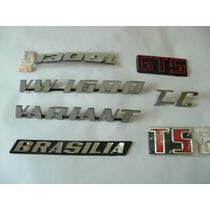 Emblemas Volkswagen Tc Em Plastico Cromado 8,2 X 5 Cm Novo