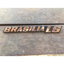 Emblema Trazeira Brasília Ls Estoque Antigo Com Pinos Novo