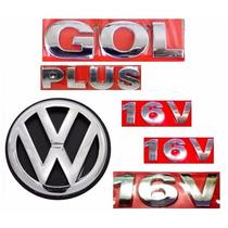 Kit Emblemas Gol G3 Plus + 16v - Geração 3 - Modelo Original