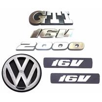 Emblemas Gol Bola Gti 2000 16v + Vw Mala - Modelo Original
