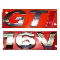 Kit Emblemas Gol G3 - Gti 16v - Geração 3 - Modelo Original