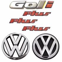 Emblemas Gol Bola I Plus + Vw Grade E Mala - Modelo Original