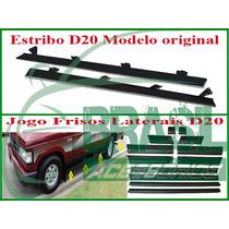 Estribo D20 Original Jogo De Frisos Laterais Cabine Dupla