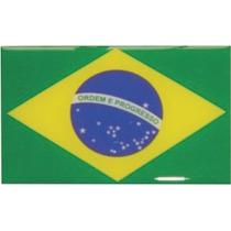 Adesivo Automotivo Resinado Bandeira Do Brasil