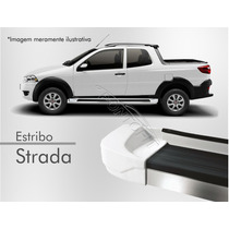Estribo Plataforma - Fiat Strada (todos) Branco Banchist