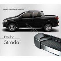 Estribo Plataforma - Fiat Strada (todos) - Preto Vulcano