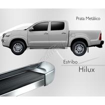 Estribo - Toyota Hilux Dupla 2012 2013 2014 - Prata Metalico