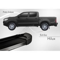 Estribo - Toyota Hilux Dupla 2012 2013 2014 - Preto Eclipse