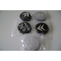Jogo Emblemas Da Renault, Peugeot, Citroen, Hyundai 55mm.