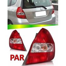 Par Lanterna Traseira Honda Fit 2004 2005 2006 2007 2008