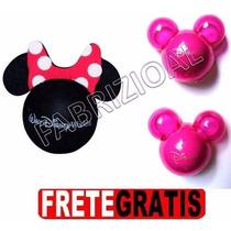 Minie Enfeite Antena + 02 Aromatizador Mickey Rosa Disney