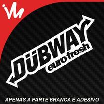Adesivo Dubway Vw Audi Euro Rebaixado Turbo Sticker Socado