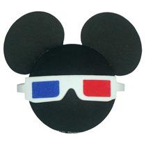Enfeite Antena Carro Mickey Óculos 3d Original Disney