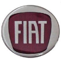 Calota Centro Roda Punto 48mm Vermelha C/ Emblema #808048