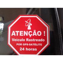 Adesivo Rastreado Por Satélite Gps Alarme Caminhao Carro Gol