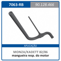 Mangueira Respiro Motor Com Rabicho Gm 90128 Monza:1982a1986