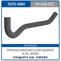 Mangueira Superior Radiador Com Ar Quente Mo Opala:1985a1992