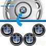 Kit Adesivo Emblema Bmw Para Calota Centro Roda 48mm 4 Peças