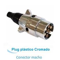 Plug 7 Polos P/ Engate Reboque Cromada - Parte Macho