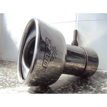 Ponteira Inox Oval Universal Para Veículo Automotor