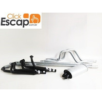 Kit Escapamento Completo C/ Coletor Opala Caravan 6x2 Alcool